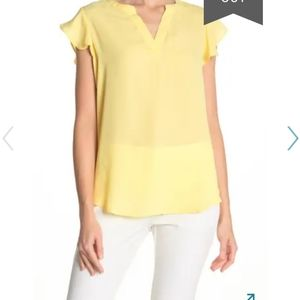 Adrianna Papell lightweight split neck blouse